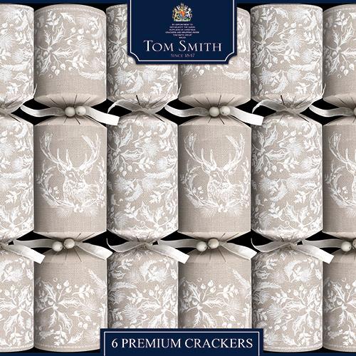 Tom Smith Premium Cracker Linen stack 6 pack
