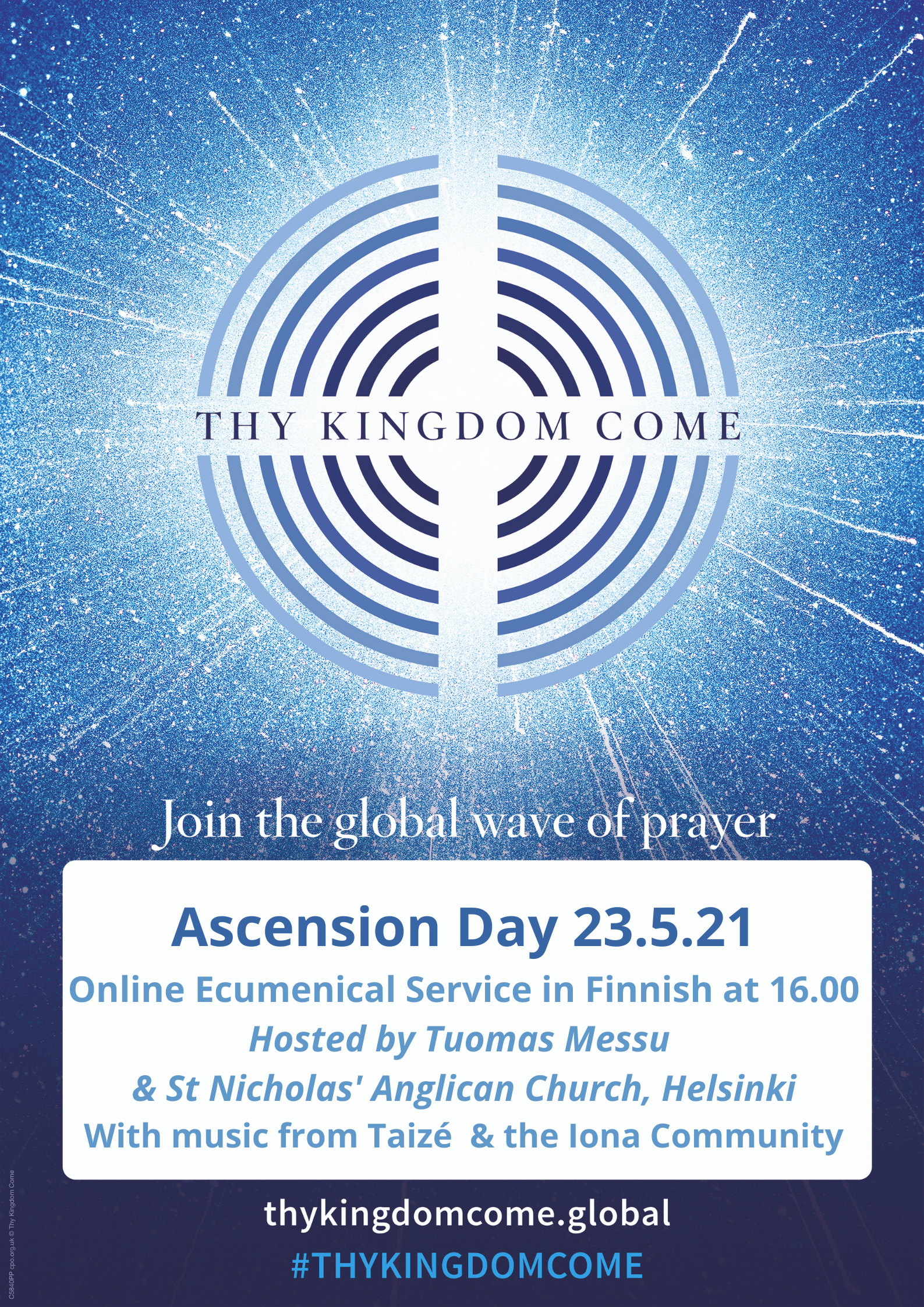 Ascension Day Ecumenical Service at 16.00 in Finnish Hosted by Tuomas Messu & St Nicholas' Church, Helsinki With music from Taizé & the Iona Community (1)